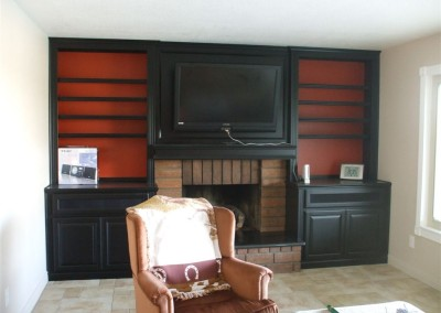 Leave the backing off your cabinets and let an accent wall color come through