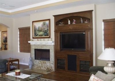 Built in wall unit with arched top