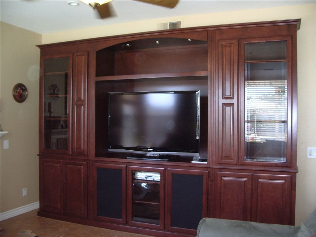 Built in entertainment center custom wall units How to build an entertainment wall unit