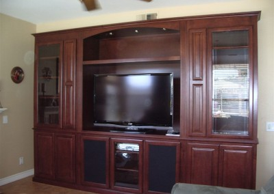 Get a built in entertainment center.