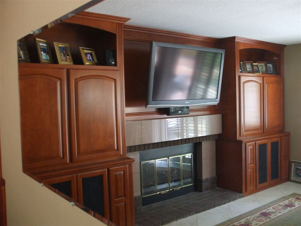 Built In Custom Home Theater Cabinet In Anaheim Hills