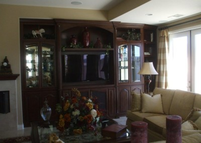 Elegant wall unit cabinetry