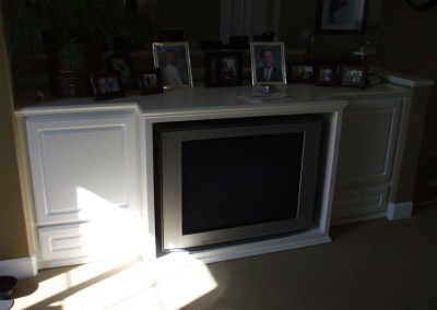 Built in tv stand