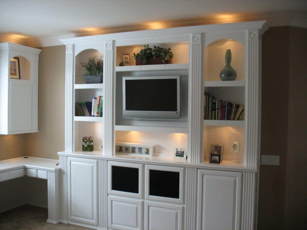 Get your own custom wall unit built in cabinets by How to build an entertainment wall unit