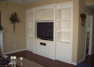 Built in white wall unit in Anaheim