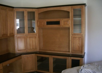 Two toned corner wall unit cabinet in Fullerton