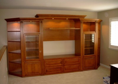 Freestanding wall unit in Cypress