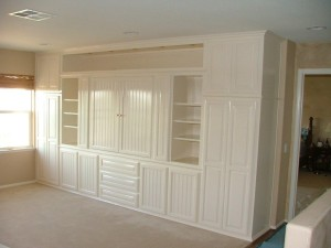 White Entertainment Center With Beadboard Doors ⋆ Cabinet