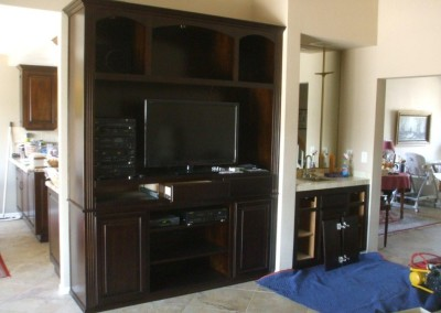 Custom entertainment center for your Placentia home