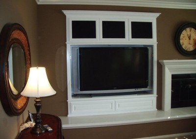 Built in white wall unit in Irvine