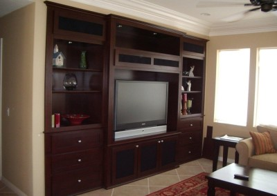 Custom Entertainment centers built in wall units
