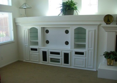 White built in cabinet in Huntington Beach