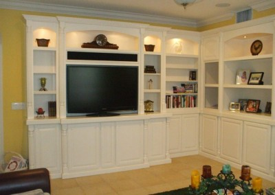 This white entertainment center is a favorite all over Orange County