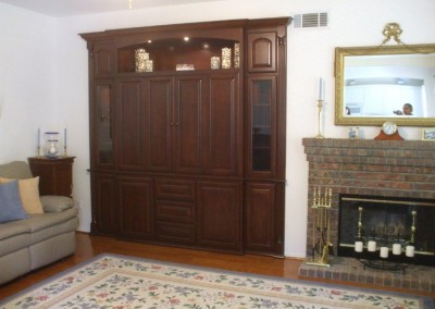 We can built a wall unit like this for your Southern California home