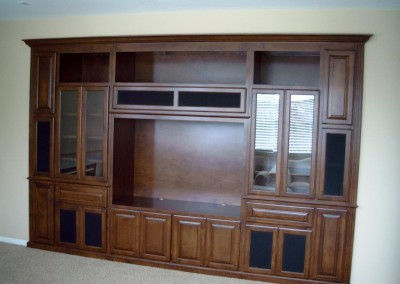 This built in wall unit looks great.