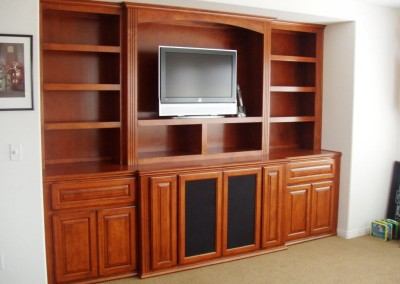 Built in entertainment center in Costa Mesa