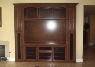 Custom entertainment tv cabinet in Laguna Niguel