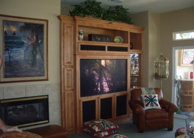 Maple entertainment center in Trabuco Canyon