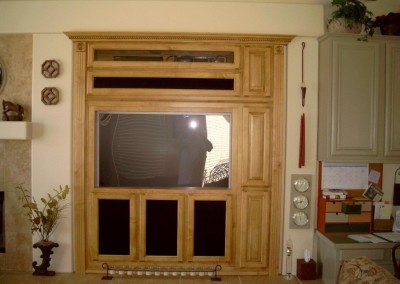 Custom wall unit built in Foothill Ranch home