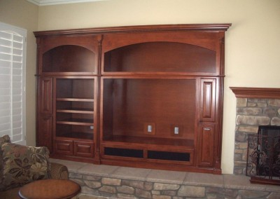 Lake Forest home with built in wall unit
