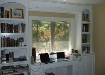 White home office cabinets in Corona