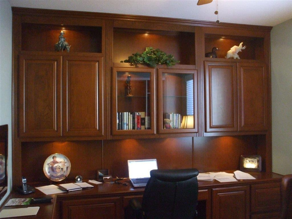 home office with built in lighting built office furniture