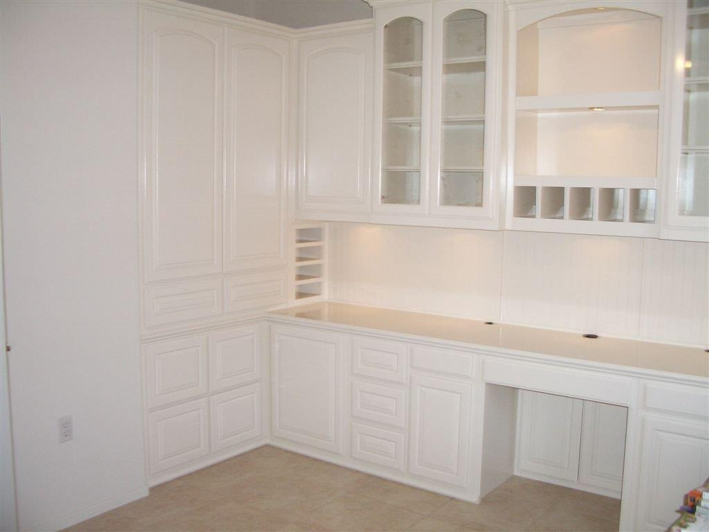 White Home Office With Built In File Cabinets ⋆ Cabinet Wholesalers Kitchen Cabinets Refacing