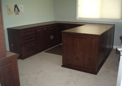 U-shaped home office desk