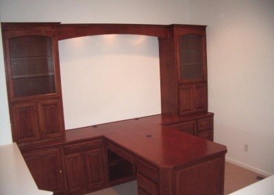 Built in partner desk