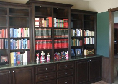 Built in home offices and bookcases