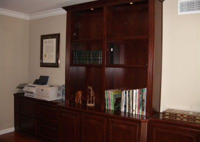 Office furniture with printer storage