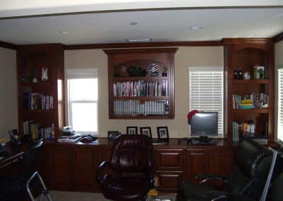 Home office with multiple workstations