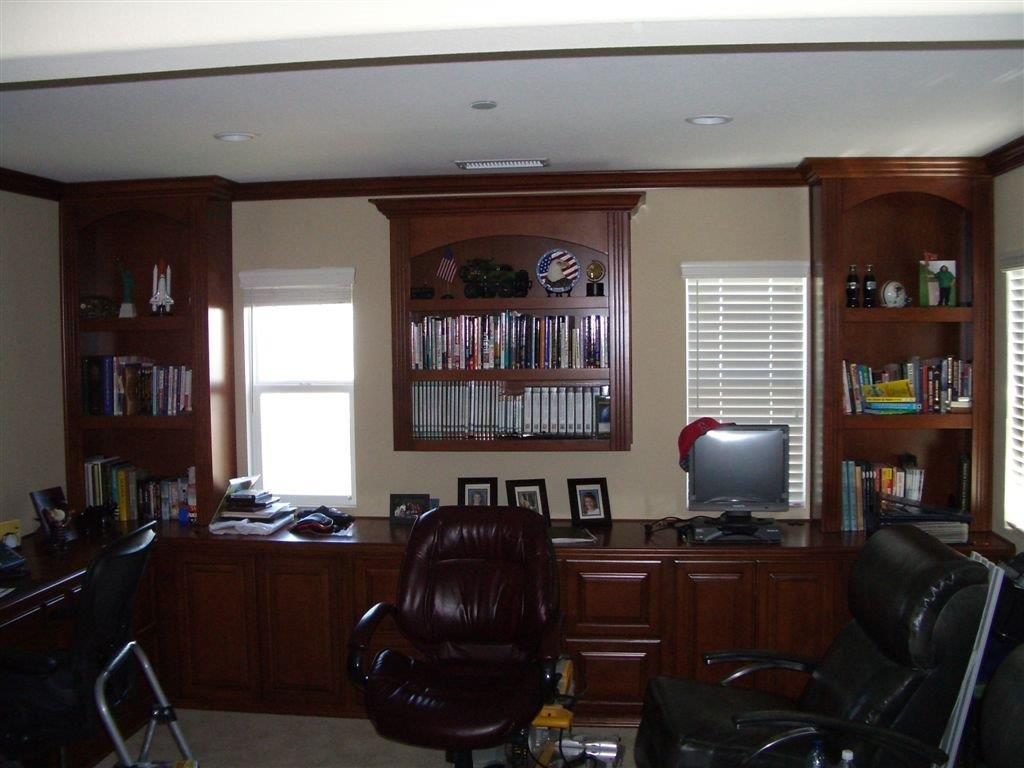 Built In Office Desk And Cabinets Built In Home Office Cabinets