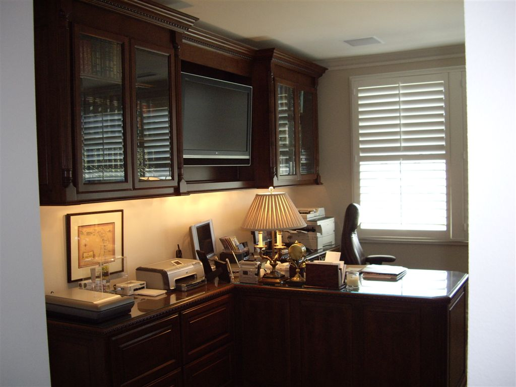 Built In Partneru0027s Desk In Home Office. Cabinets For Sale In Southern  California