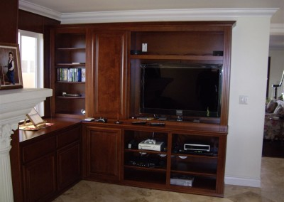 Home office cabinets with TV