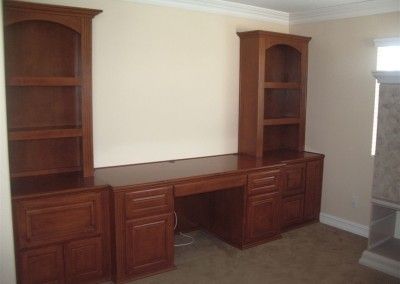 Bookcases and built in desk