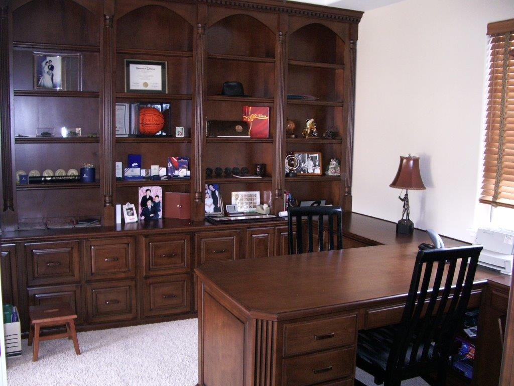 home office built in cabinets - Bookshelves And Desk Built In