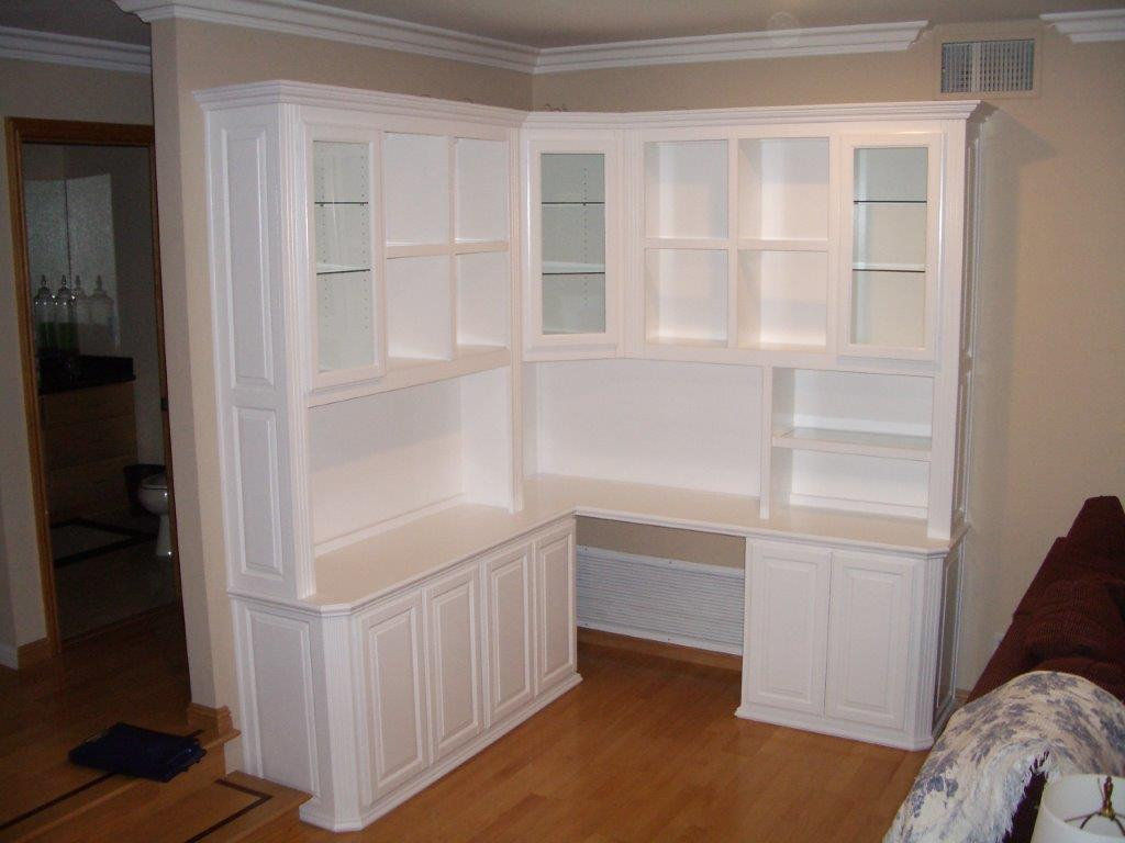 White Home Office Cabinets In Irvine