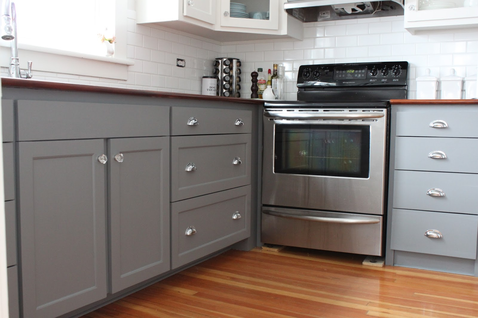 Grey Kitchen Cabinets With Cup Pulls Cabinet Wholesalers Kitchen - Refinishing kitchen cabinets grey