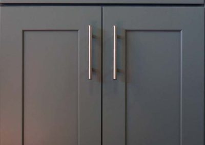 RU Grey Shaker Kitchen Cabinet Door Style