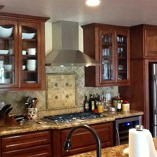 Kitchen Cabinet Makeover With Glass Doors ⋆ Cabinet