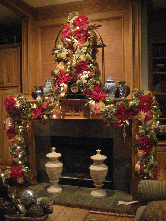 How To Style Your Fireplace Mantel For The Holidays