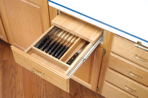 Built in knife drawer your cabinets from cabinet