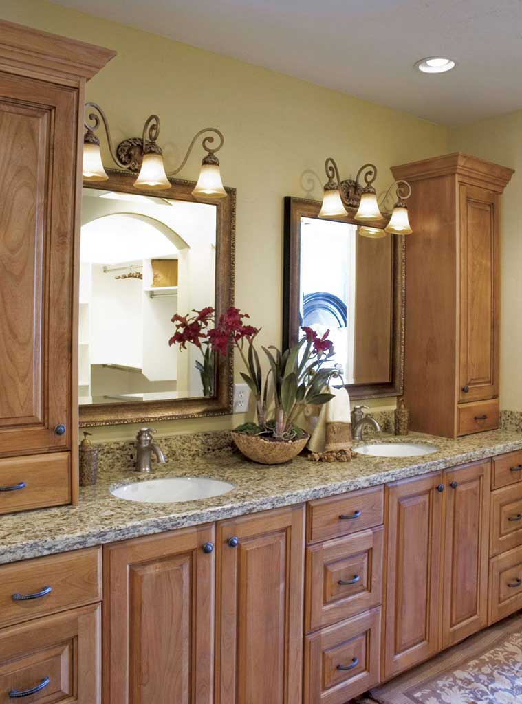 Cherry bathroom cabinets cabinet wholesalers kitchen for Bathroom cabinet designs photos