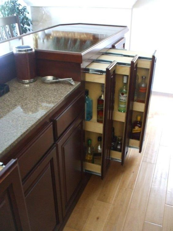 Home bar cabinet liquor pullout drawers ⋆ Cabinet Wholesalers ...