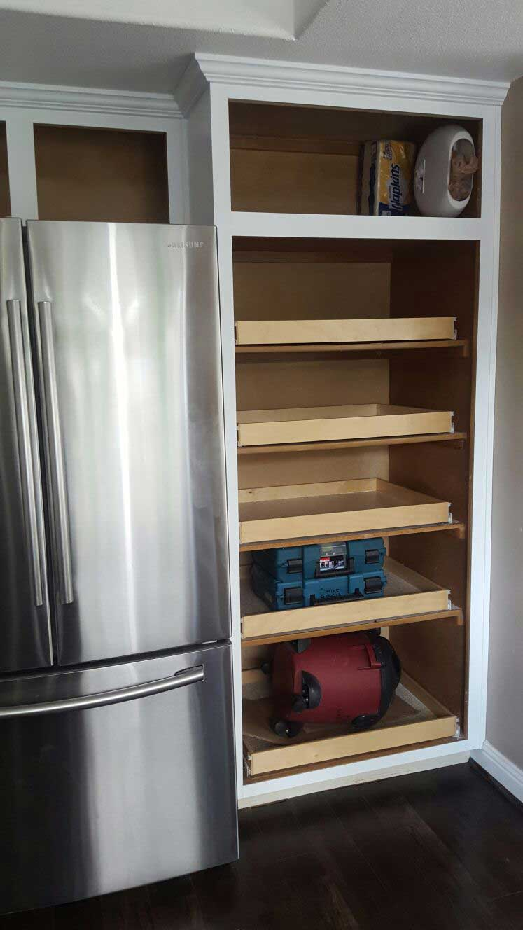 Redo Your Kitchen Cabinets And Add Pullout Shelves.