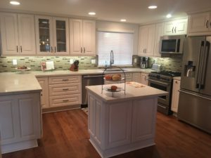 White kitchen cabinets refacing in Long Beach
