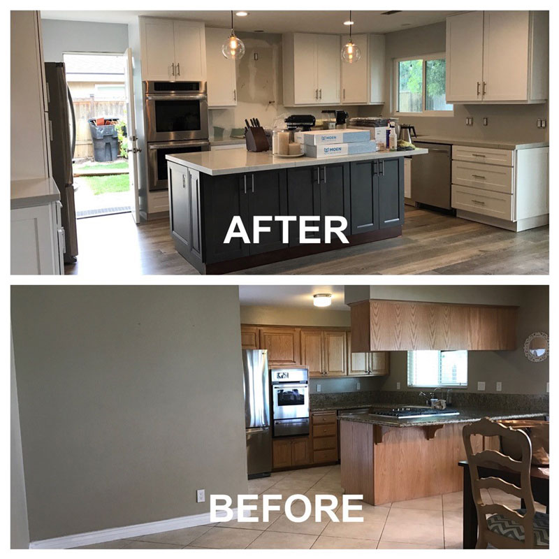 Kitchen Cabinets In Orange County: Before And After Kitchen Makeover ⋆ Cabinet Wholesalers