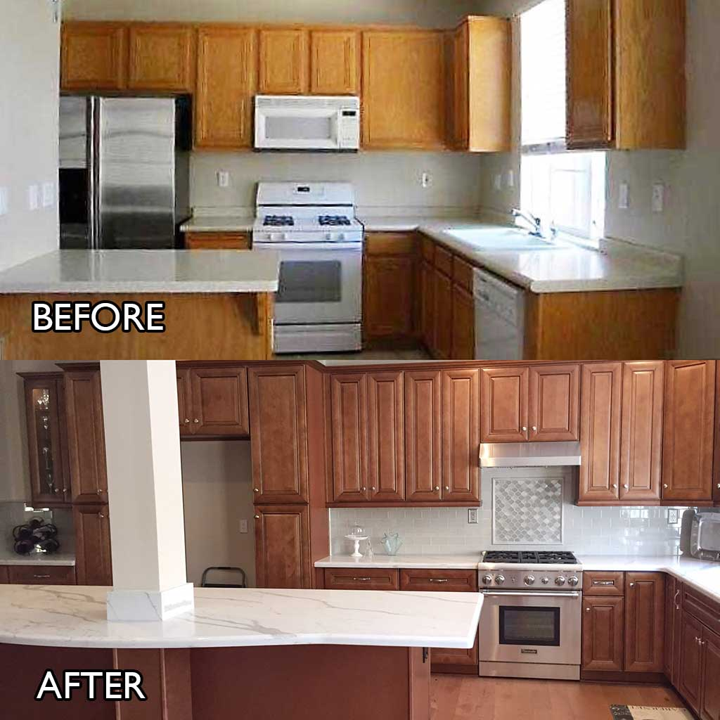 Kitchen Transformation Before And After: Kitchen Cabinets Irvine ⋆ Cabinet Wholesalers: Kitchen