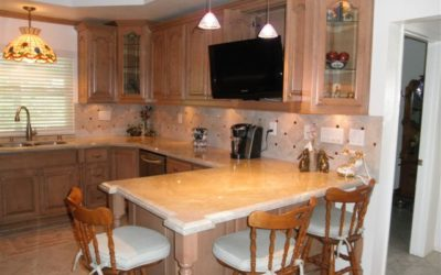 Upland Kitchen Cabinets with Hidden TV